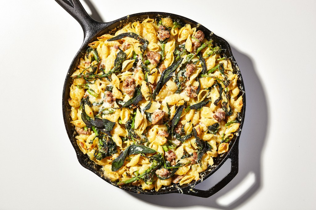 Yhden Pot Baked Pasta with Sausage and Broccoli Rabe