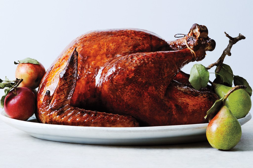 glaserede and Lacquered Roast Turkey