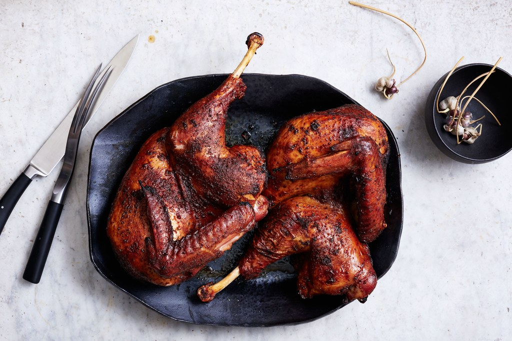 Grill Spice–Brined Grilled Turkey
