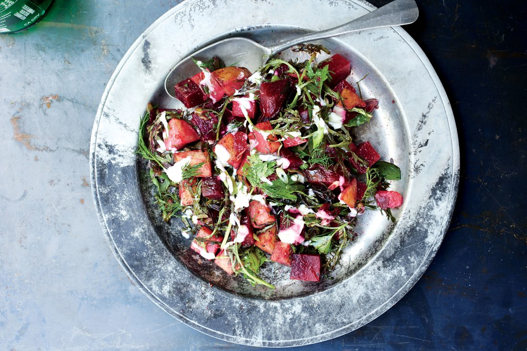 מליח Beets with Potatoes and Horseradish