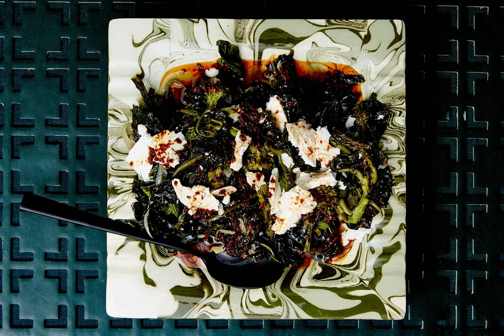 מאוהבת Greens with Aleppo Oil and Feta