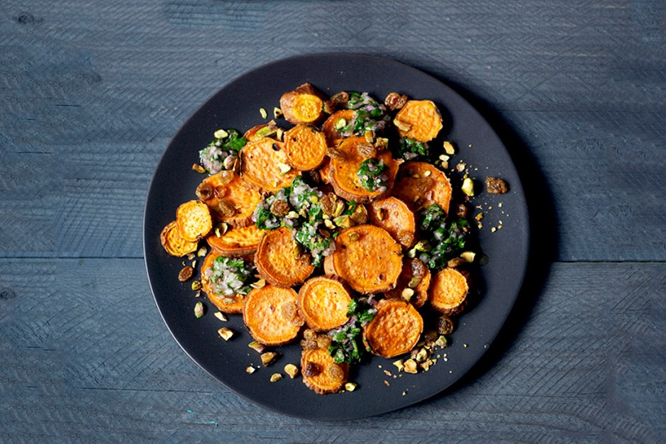 קלויים Yams with Citrus Salsa