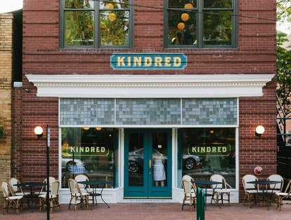 ה Kindreds received a grant from the city of Davidson to help restore the facade of the historic building
