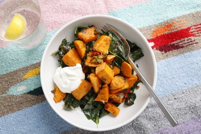 βασικά sweet potatoes cardamom collards tout