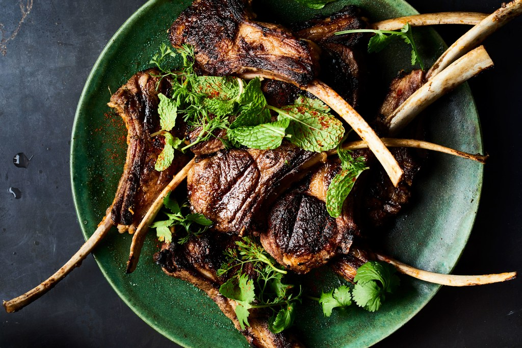 Spice-Marinerede and Grilled Lamb Chops