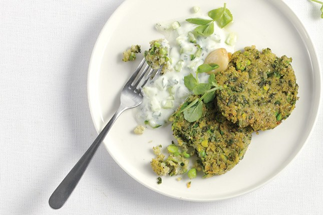 Syd Indian Lentil Cakes with Raita