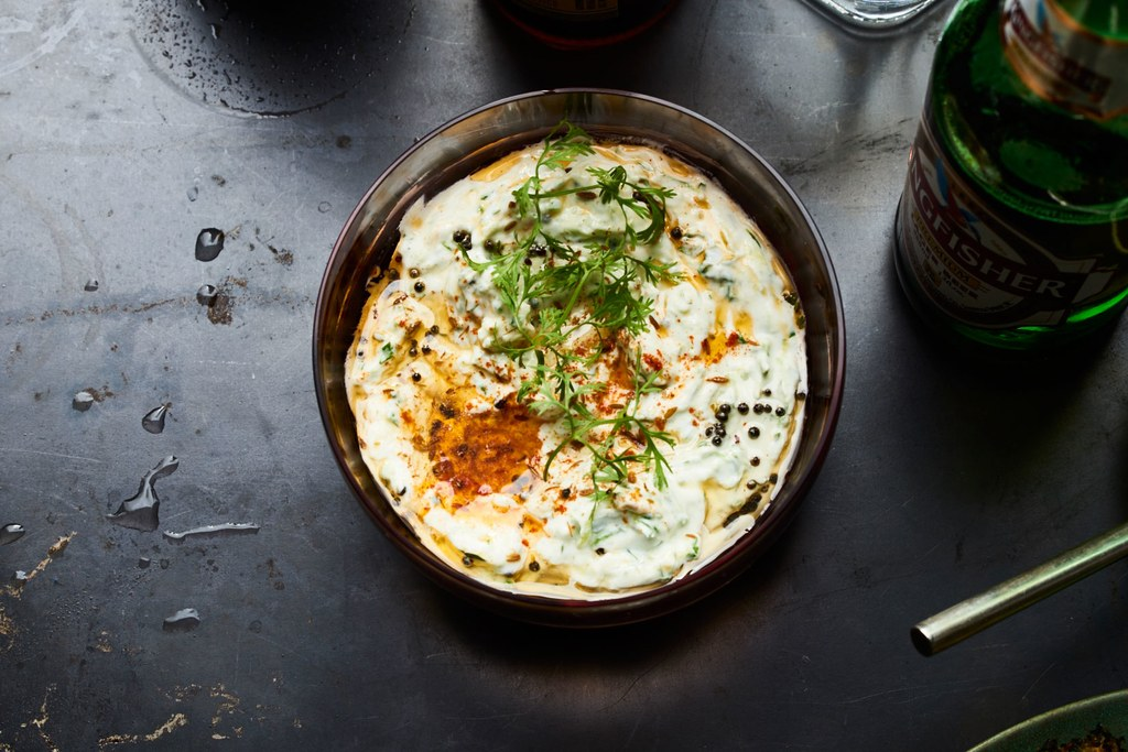 Agurk Raita with Black Mustard and Cilantro