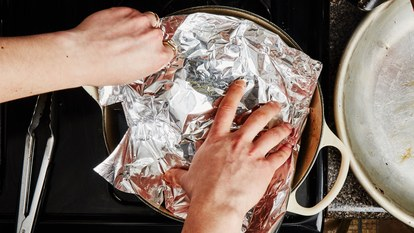 50 dollar dinner party aluminum foil dutch oven