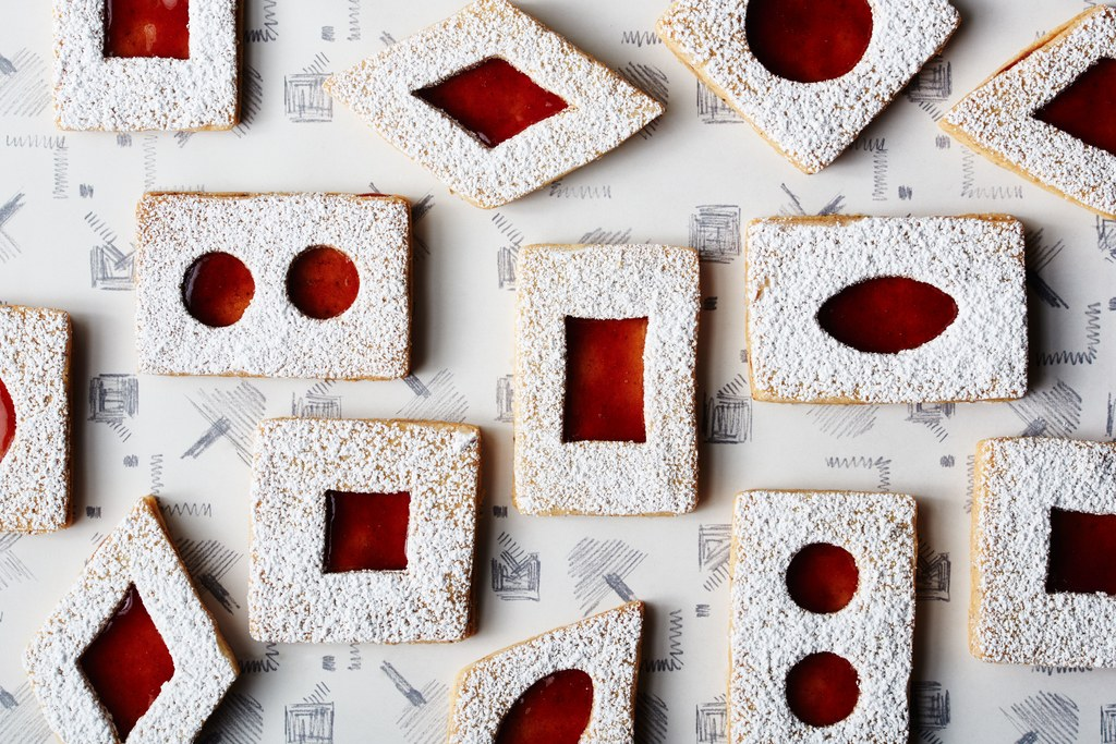 Αρωματισμένο Brown Butter Linzer Cookies