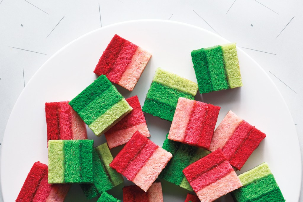 Ombré Rainbow Cookies